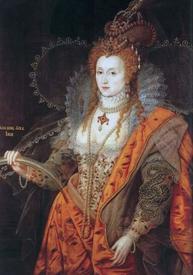 Стоячий воротник на портрете Елизаветы I. 1600−1602.