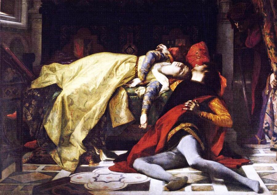 Александр Кабанель, Франческа да Римини и Паоло Малатеста, 1870, Музей Орсе, Париж, Франция