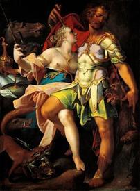 Бартоломеус Странгер, Улисс и Цирцея, 1580,  108х72 см, Kunsthistorisches Museum, Вена, Австрия