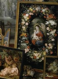 Питер Пауль Рубенс, Ян Брейгель Старший, Зрение,  фрагмент «Мадонна в цветах»