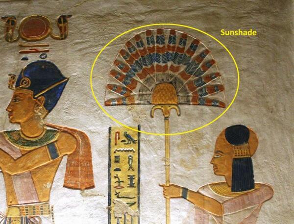 Подобие зонта в Древнем Египте.