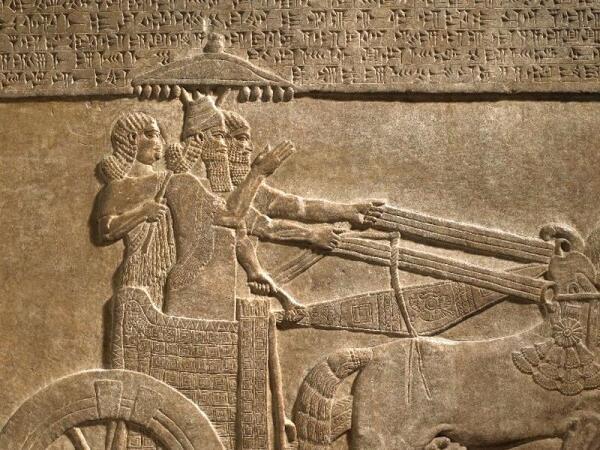 Зонт в Ассирии, 730-727 до н.э.