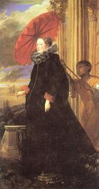 Антонис Ван Дейк. Портрет маркизы Елены Гримальди. 1623.