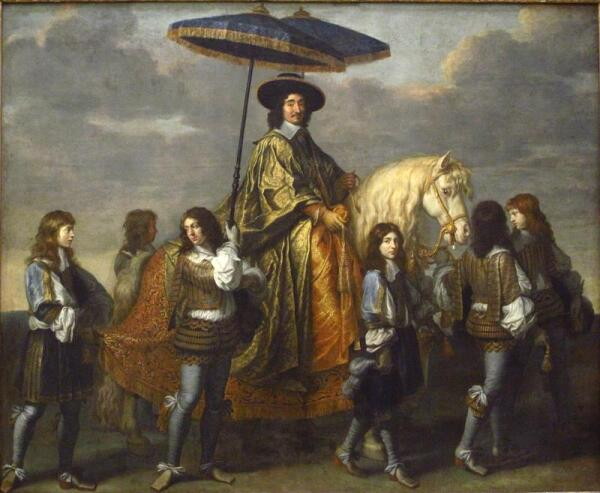 Чарльз ле Брун. Канцлер Пьер Сегье с зонтиком. 1670.