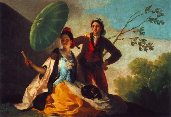 Зонт на картине 1788 года.