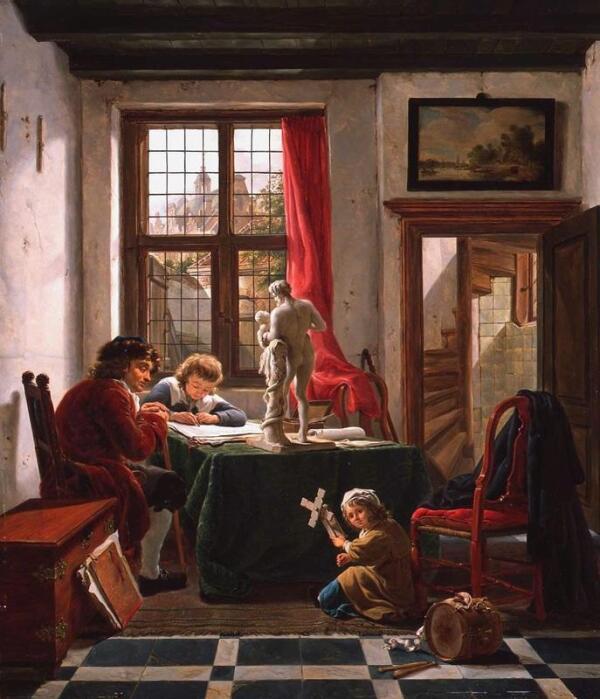 Абрахам ван Стрий, Урок рисования, 1800, Музей Дордрехта, Нидерланды