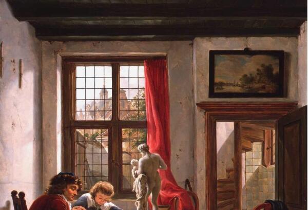 Абрахам ван Стрий, Урок рисования, фрагмент