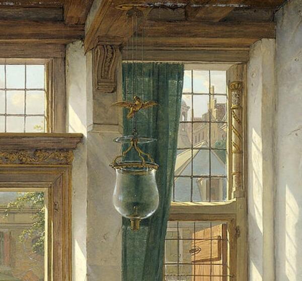 Абрахам ван Стрий, Продавщица вишни в дверях, фрагмент