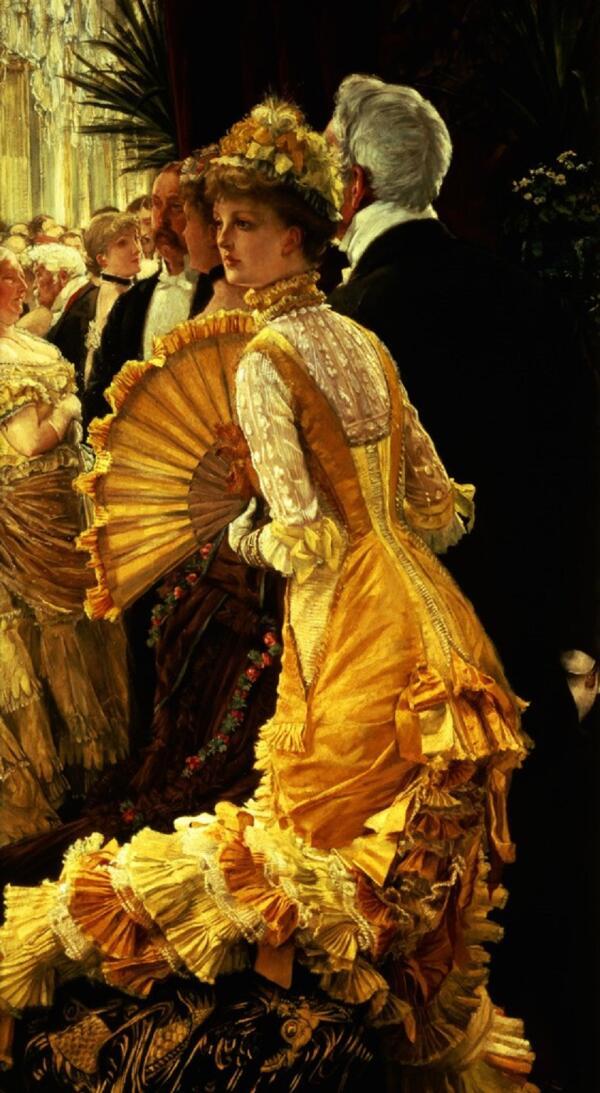 Джеймс Тиссо, На балу, 1880, 90×50 см, музей Д'Орсе, Париж, Франция