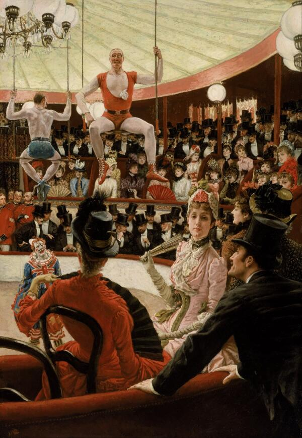 Джеймс Тиссо, Женщины в парижском цирке, 1885, 147×102 см, музей изящных искусств, Бостон, США