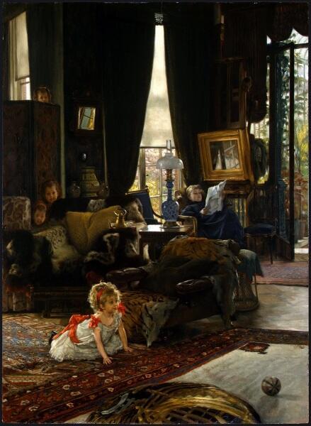 Джеймс Тиссо, Прятки, 1877, 73х54 см, Национальная галерея искусств, Вашингтон, США