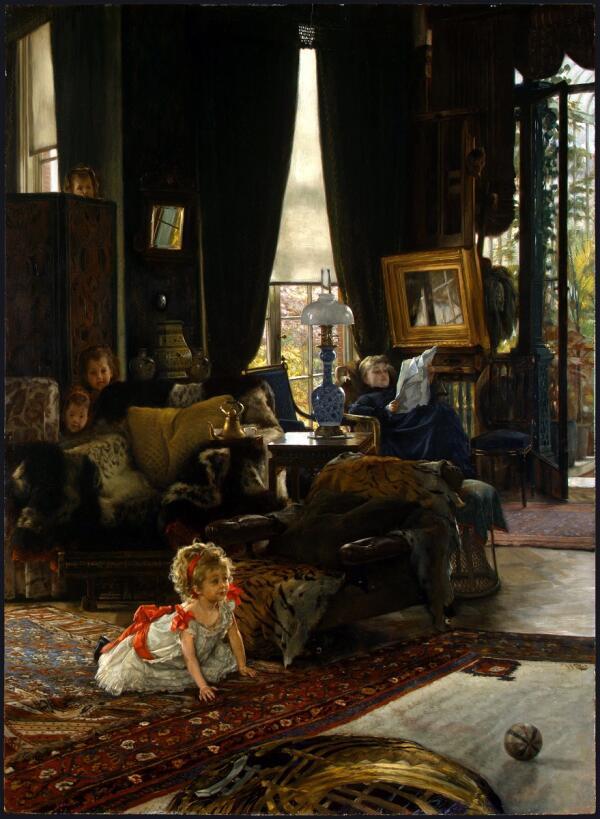 Джеймс Тиссо, Прятки, 1877, 73×54 см, Национальная галерея искусств, Вашингтон, США