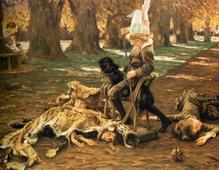 Джеймс Тиссо,Маленький охотник, 1882, частная коллекция
