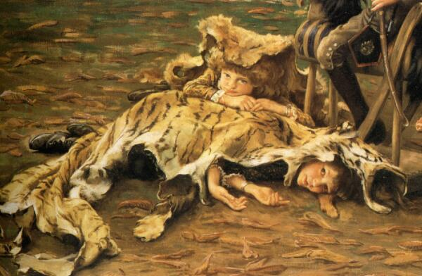 Джеймс Тиссо, Маленький охотник, фрагмент «Трофеи— убитые тигры»