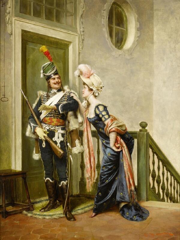 Фредерик Солакру, Галантный офицер, 82×62 см