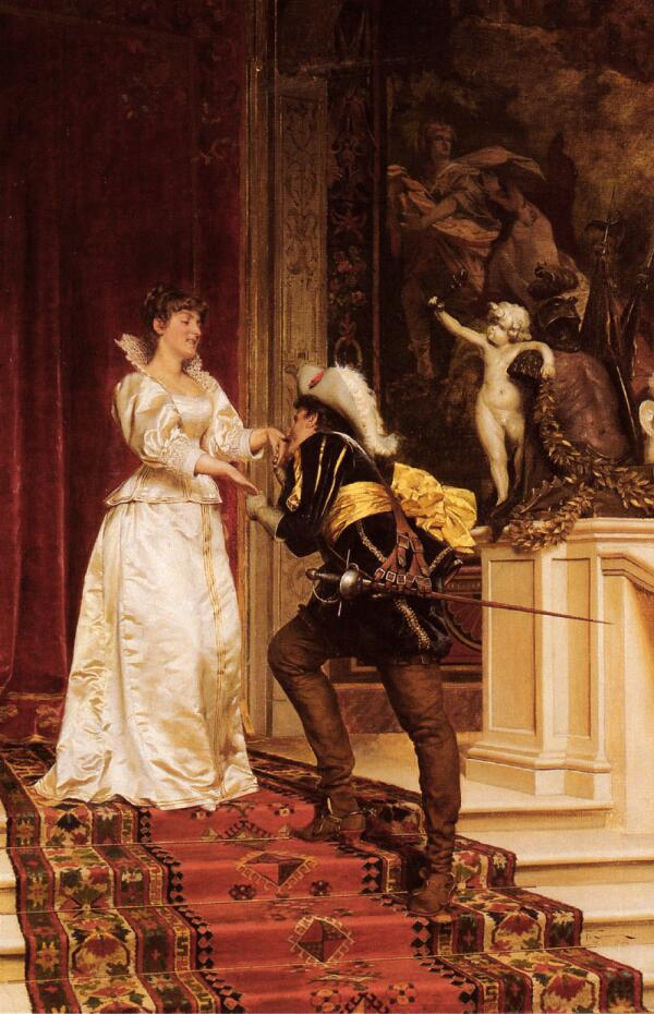 Фредерик Солакру, Поцелуй джентльмена, 98×66 см, частная коллекция