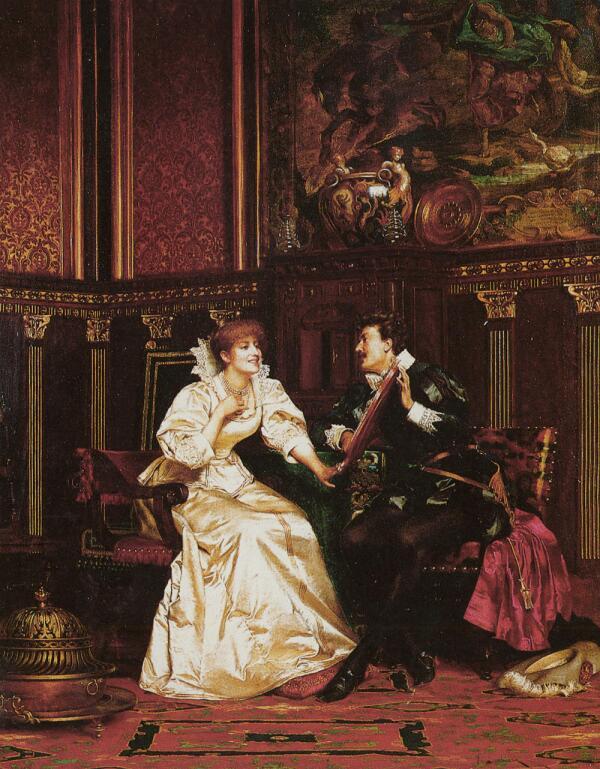 Фредерик Солакру, Жемчужное ожерелье, 84×66 см, частная коллекция