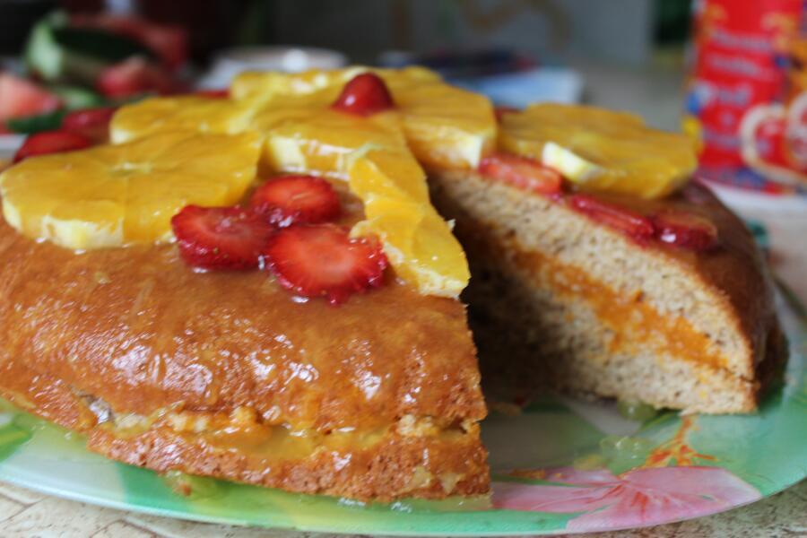 Как приготовить бисквитный апельсиновый торт?