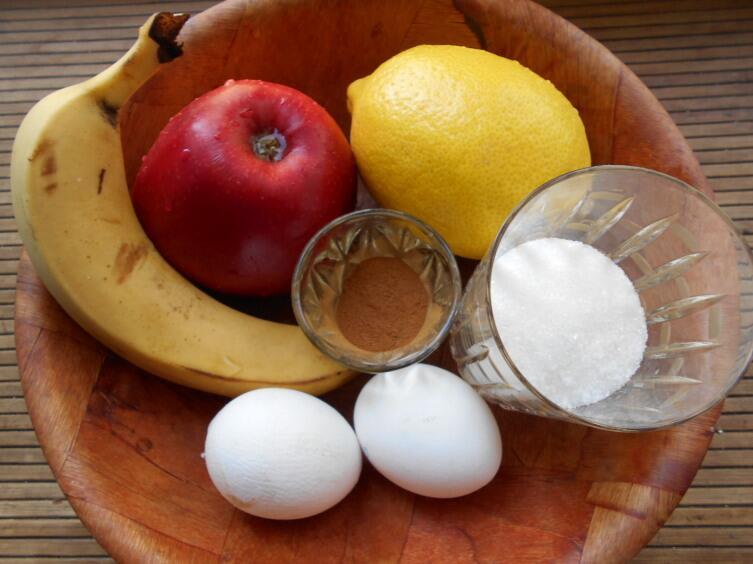 Как приготовить воздушное бананово-яблочное суфле?
