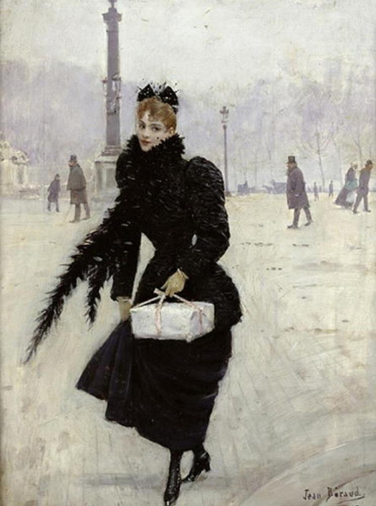 Жан Беро, Парижанка на площади Конкорд, 1890
