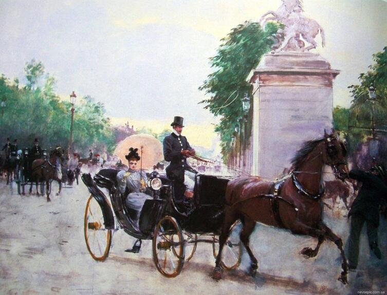 Жан Беро, Прогулка на Елисейских полях, музей Карнивале, Париж, Франция