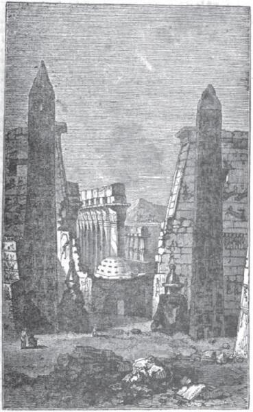 Вид обелисков Луксора в 1832 году
