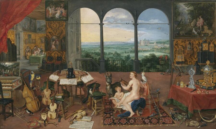 Ян Брейгель Старший, Слух, 1617, 64×110 см, Прадо, Мадрид, Испания
