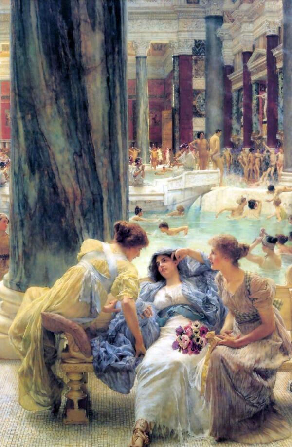 Альма-Тадема сэр Лоуренс, Термы Каракаллы, 1899, 152x95 см, частная коллекция