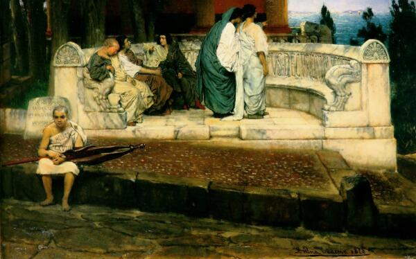Альма-Тадема сэр Лоуренс, Экседра,1869 год, частная коллекция