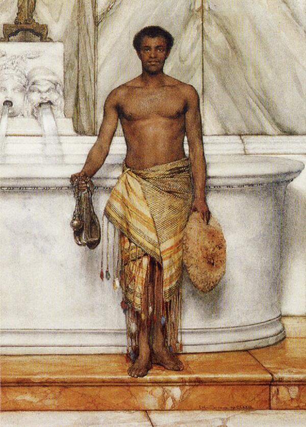 Альма-Тадема сэр Лоуренс, Банщик, 1877, частная коллекция