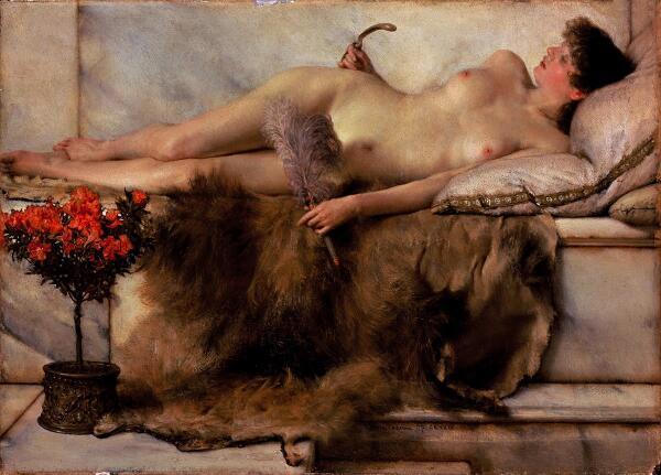 Альма-Тадема сэр Лоуренс, В тепидарии, 1881, 24x33 см, The Lady Lever Art Gallery, Port Sunlight, Англия