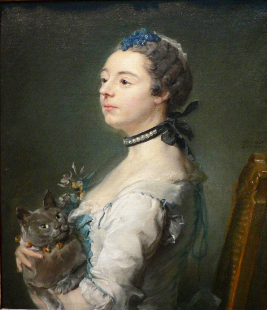 «Великая Принцесса Магдалена» (с кошкой породы шартрез).