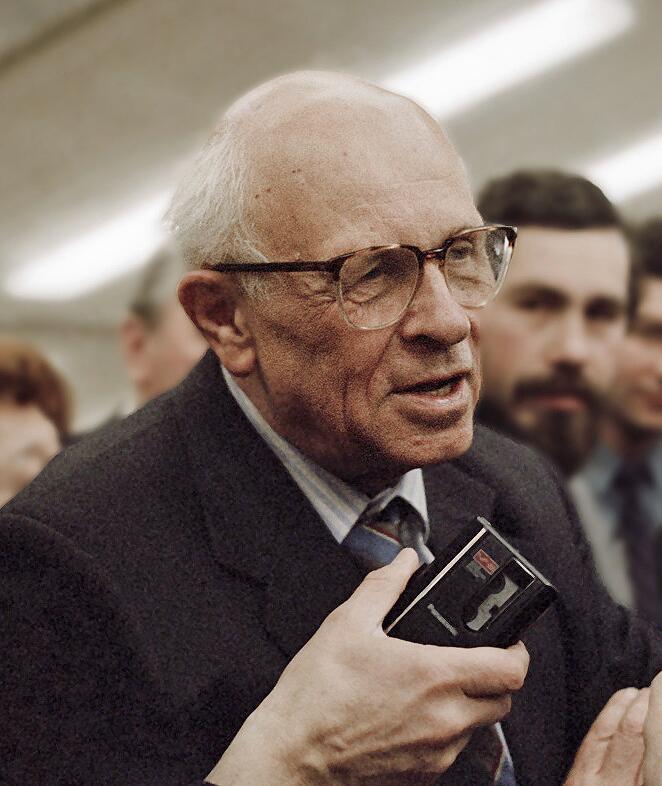 А.Д. Сахаров, трижды Герой Социалистического Труда