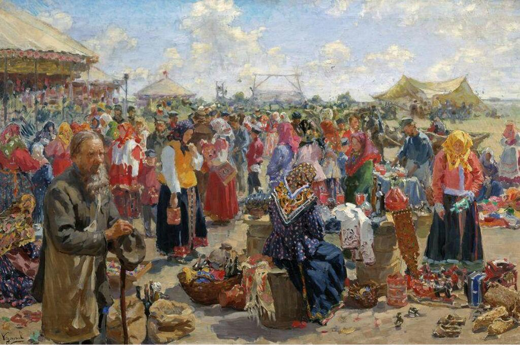 И.С. Куликов. Ярмарка. 1910