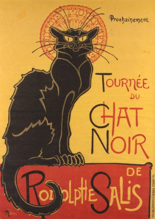 Реклама Стейнлена для «Чёрного кота» (1896)