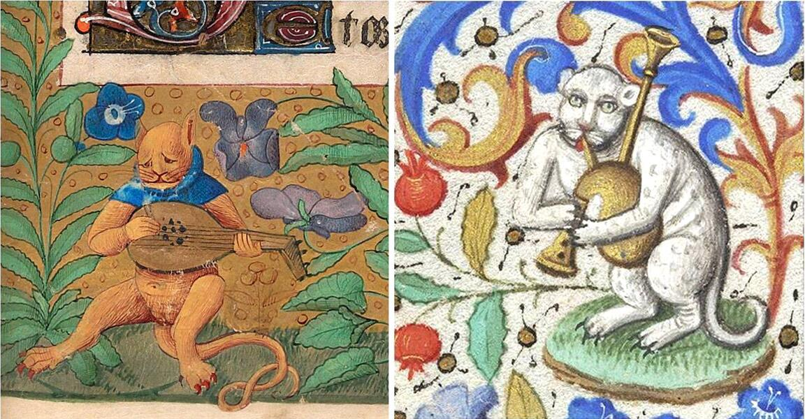Коты на средневековых миниатюрах