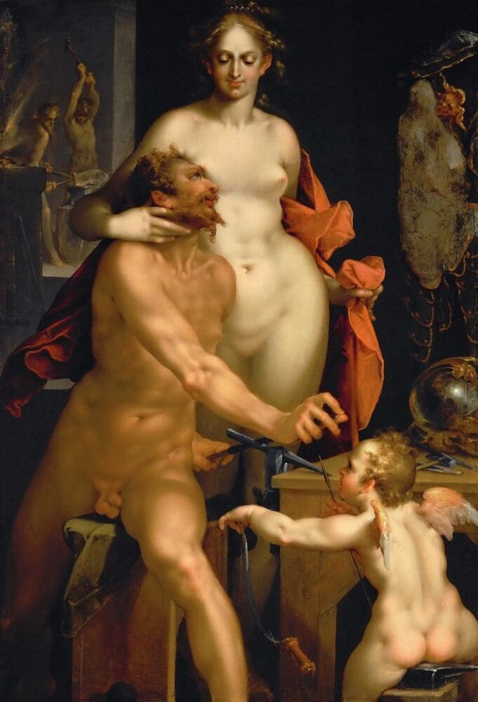 Бартоломеус Спрангер, Венера и Вулкан (Афродита и Гефест), 1610, 140х95 см, Kunsthistorisches Museum, Вена, Австрия
