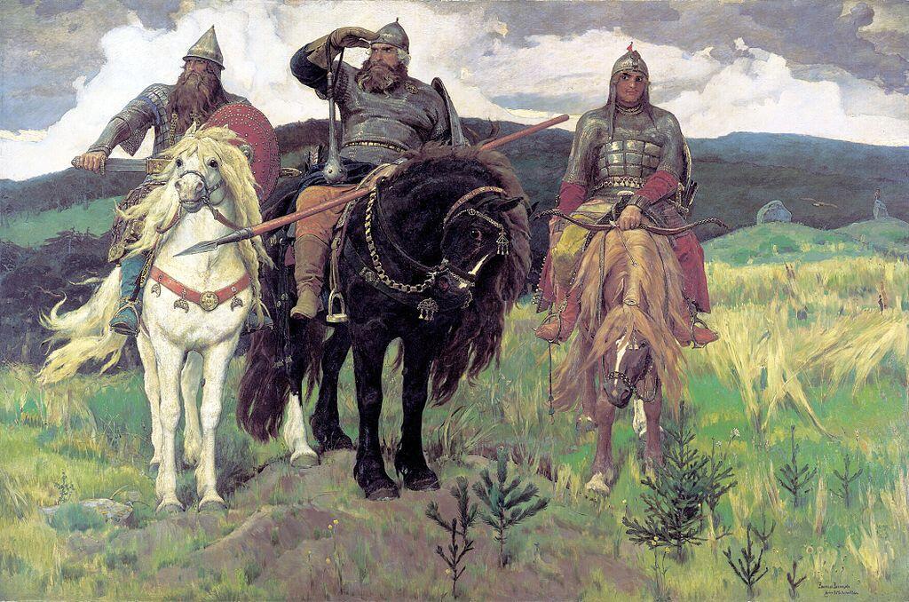 Булава на руке у Ильи Муромца. «Богатыри». Виктор Васнецов. 1881—1898.