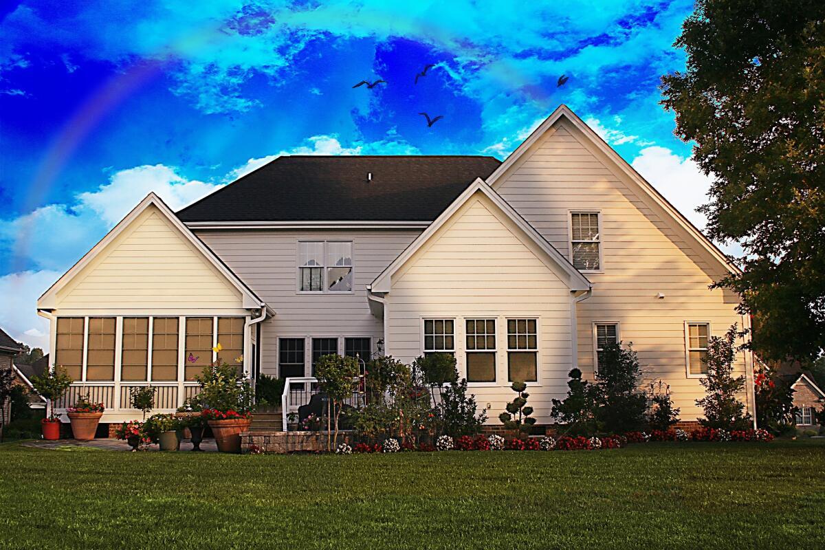 картинка дом и вокруг домашних тень