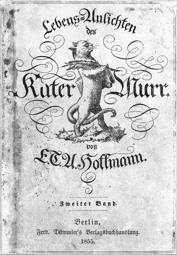 Издание «Житейских воззрений кота Мурра» 1855 года.