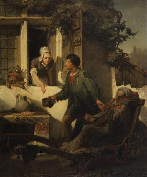 Альма-Тадема сэр Лоуренс, Слепой нищий, 1856, 64х54 см, Walters Art Museum, Мериленд, США