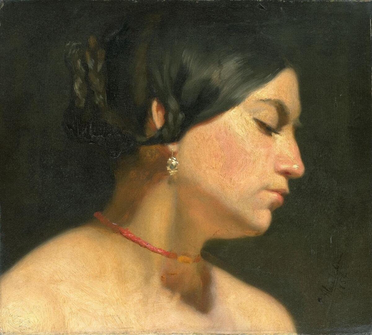 Альма-Тадема сэр Лоуренс, Мария Магдалина, 1854, 31х 35 см, Rijksmuseum, Амстердам, Нидерланды