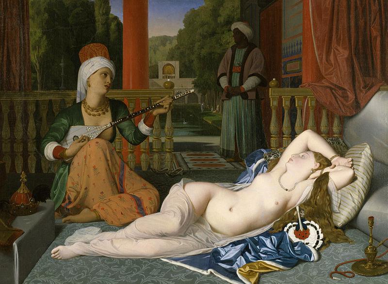 Жан Огюст Доминик Энгр, Одалиска и рабыня. 1842