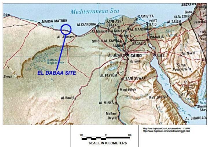 Место положения первой египетской АЭС в Эд-Дабаа