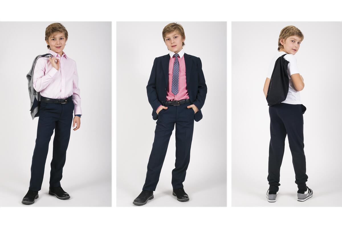 Школьные брюки для полного мальчика