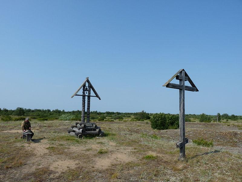 В Пустозерске, на предполагаемом месте сожжения протопопа Аввакума, установлен старообрядческий крест