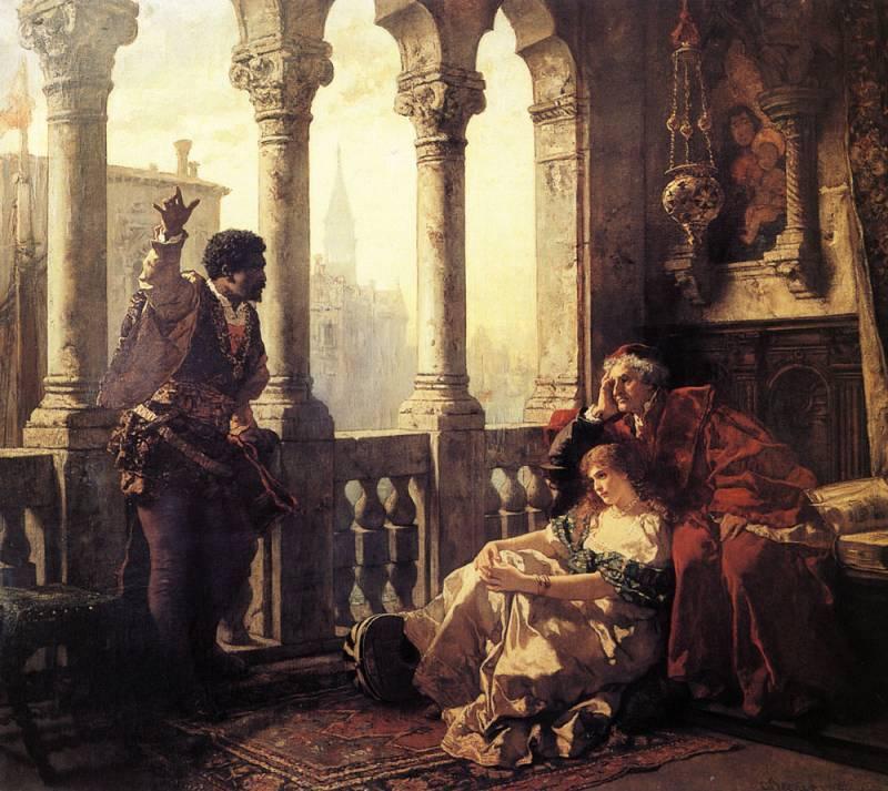 «Отелло рассказывает о своих приключениях Дездемоне», Беккер Карл Фридрих Людвиг