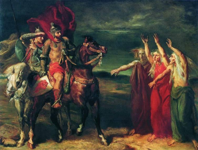 «Макбет и три ведьмы», Шассерио Теодор