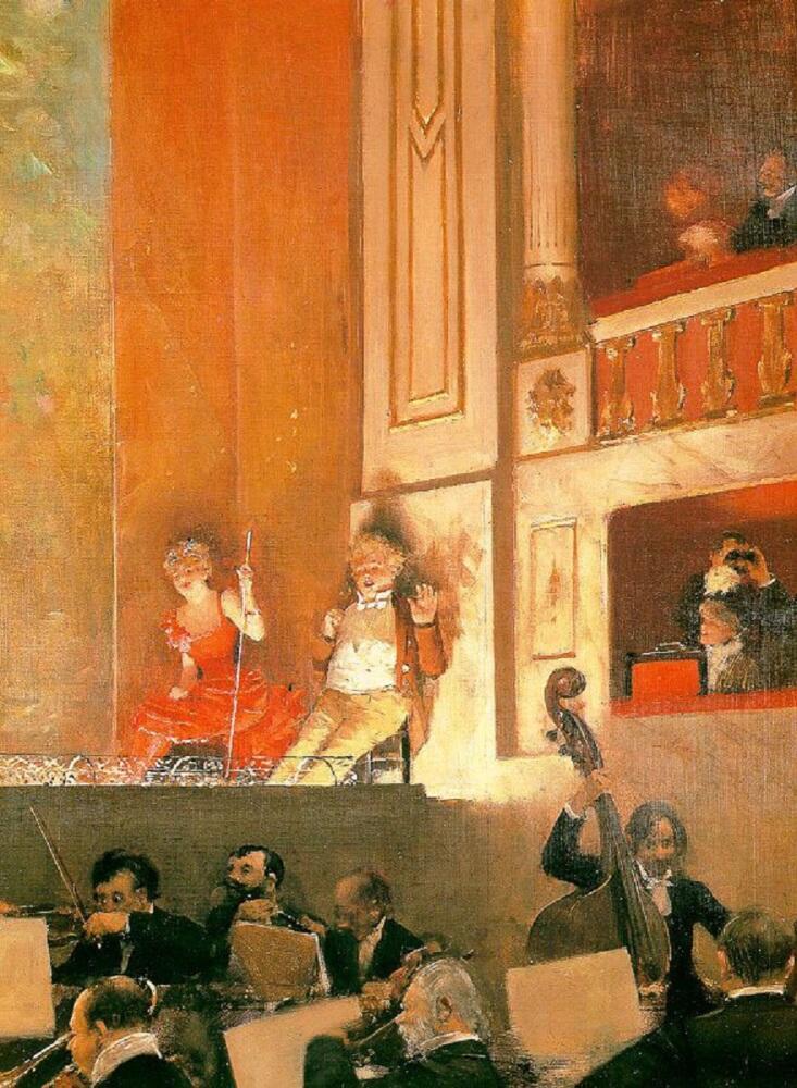 Жан Беро, Представление в Театре-варьете, 1888, Музей декоративного искусства, Париж, Франция