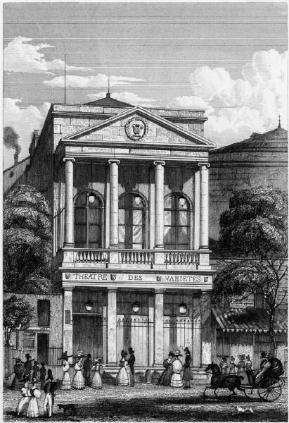 Театр Варьете, 1831 год, библиотека Рокфеллера, США
